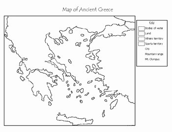Ancient Greece Map Worksheet Luxury Ancient Greece Blank Maps by Mr C Shop