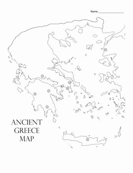 Ancient Greece Map Worksheet New Ancient Civilizations Greece Map Activity by Scholl Math