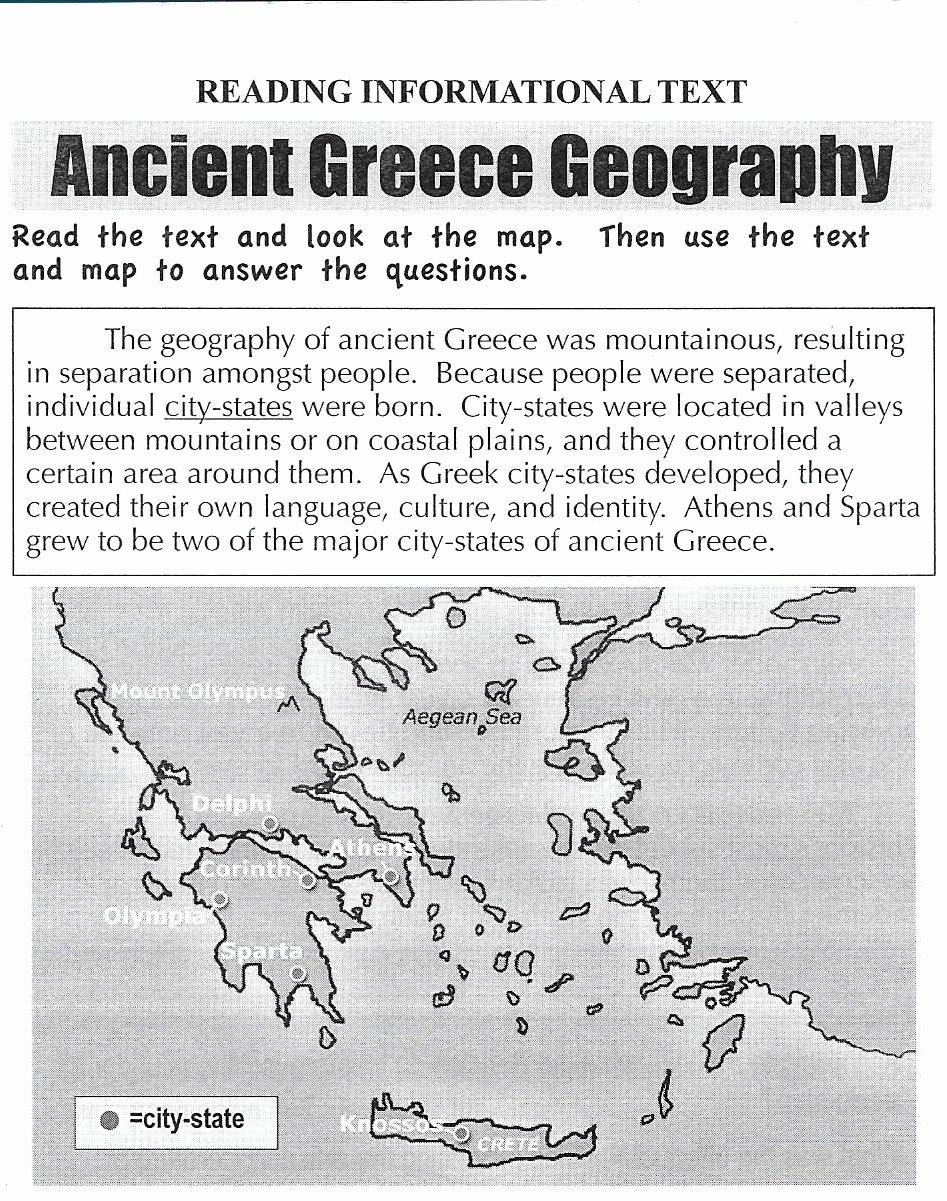 Ancient Greece Map Worksheet Unique Geography social Stu S
