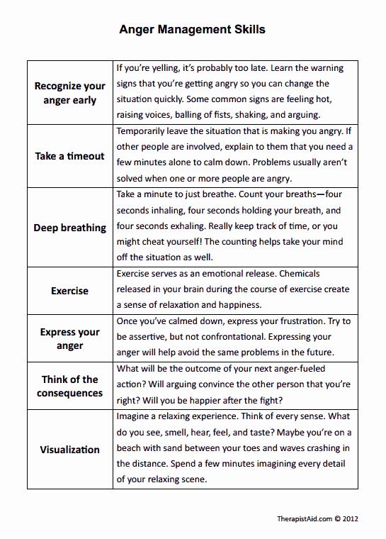 Anger Management Worksheet for Teenagers Best Of the 25 Best Anger Management Worksheets Ideas On