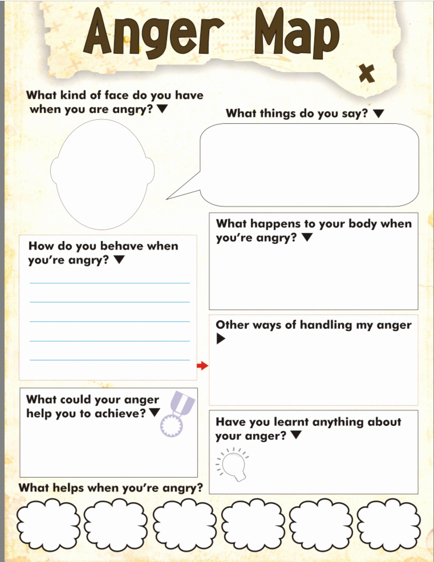 Anger Management Worksheet for Teenagers Lovely Anger Map Kids Worksheet Free Printable