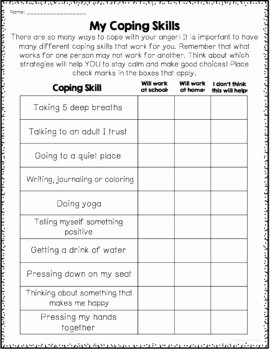 Anger Management Worksheet for Teenagers Luxury Anger Management Worksheets by Counselorchelsey
