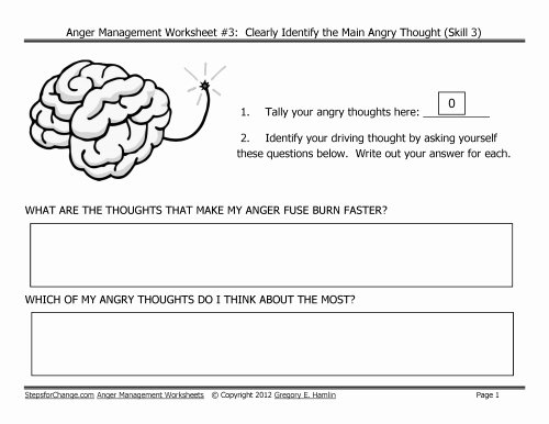 Anger Management Worksheet for Teenagers Luxury Free Download Link for Third In Series Of Anger Management