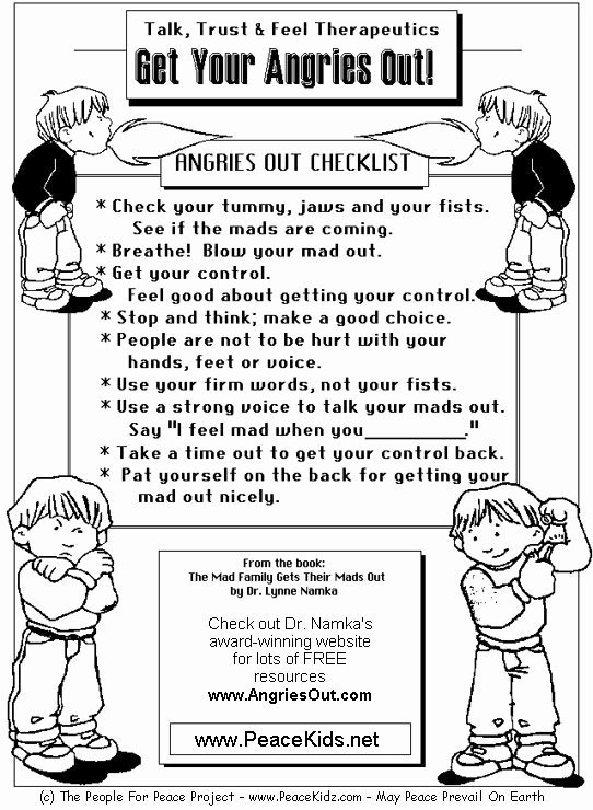 Anger Management Worksheet for Teenagers Luxury Managing Anger Teenagers Worksheets for Children Kids