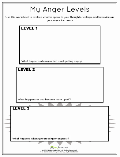 Anger Management Worksheet for Teenagers New Pin by Mylemarks On Anger Management Resources for Kids