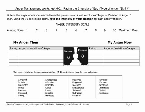 Anger Management Worksheet for Teens Inspirational Anger Management Worksheets Archives Steps for Change