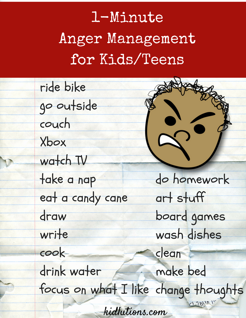 Anger Management Worksheet for Teens Luxury 1 Minute Anger Management Activity for Kids and Teens