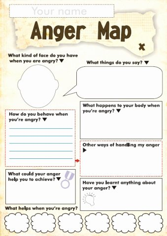 Anger Management Worksheet for Teens New Free Anger and Feelings Worksheets for Kids