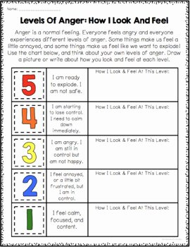 Anger Management Worksheet for Teens Unique Anger Management Worksheets by Counselorchelsey