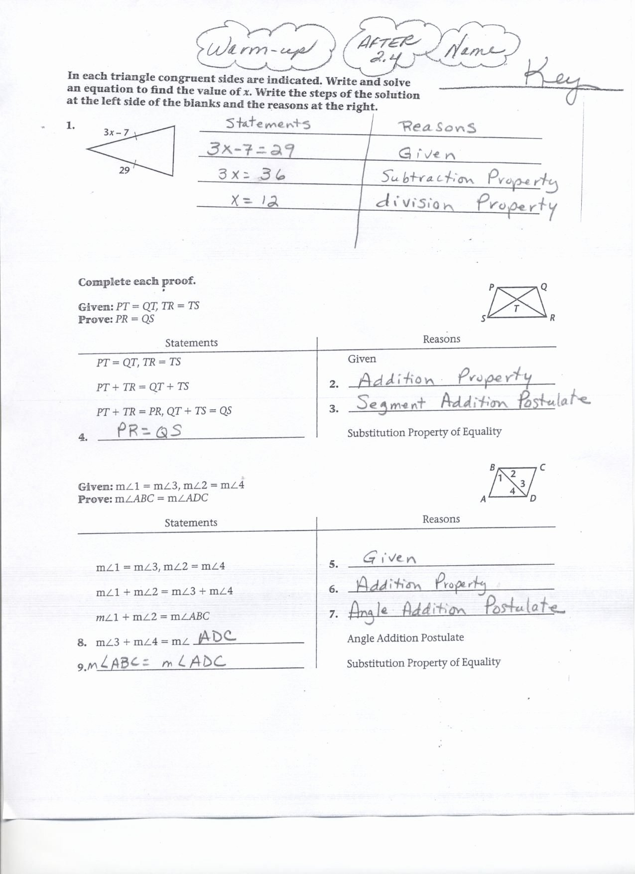 Angle Addition Postulate Worksheet Fresh Geometry Segment and Angle Addition Worksheet Answers