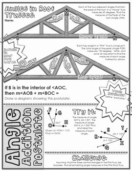 Angle Addition Postulate Worksheet Fresh Segment & Angle Addition Postulates Doodle Notes by Math