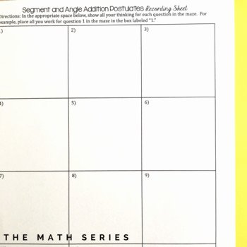 Angle Addition Postulate Worksheet Lovely Segment and Angle Addition Postulates Maze by the Math