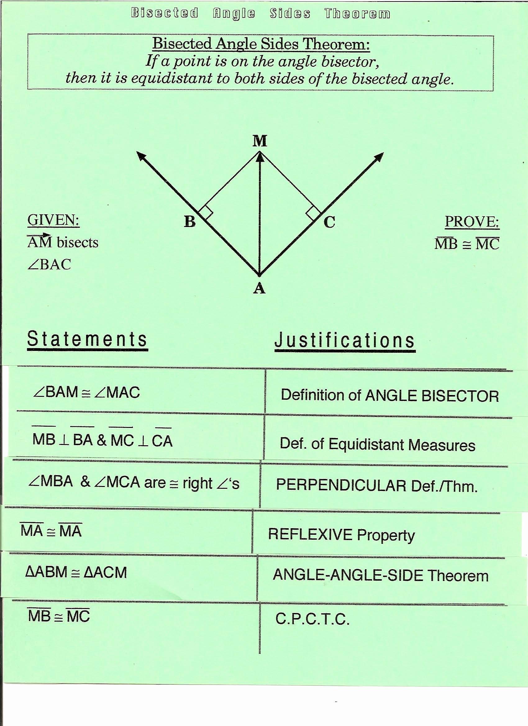 Angle Bisector theorem Worksheet Best Of Gebhard Curt G S