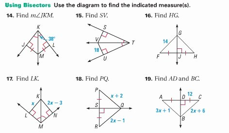 Angle Bisector theorem Worksheet Elegant Practical Geometry