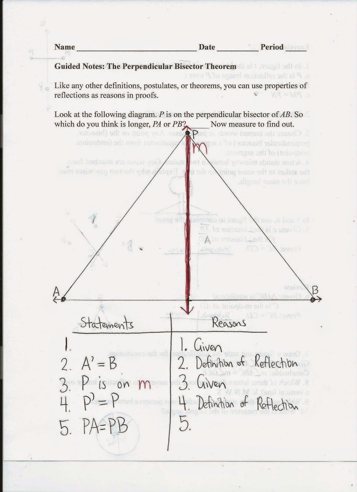 Angle Bisector theorem Worksheet Elegant Worksheet 5 4 Angle and Perpendicular Bisectors