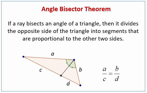 Angle Bisector theorem Worksheet Fresh Angle Bisector theorem Examples solutions Videos