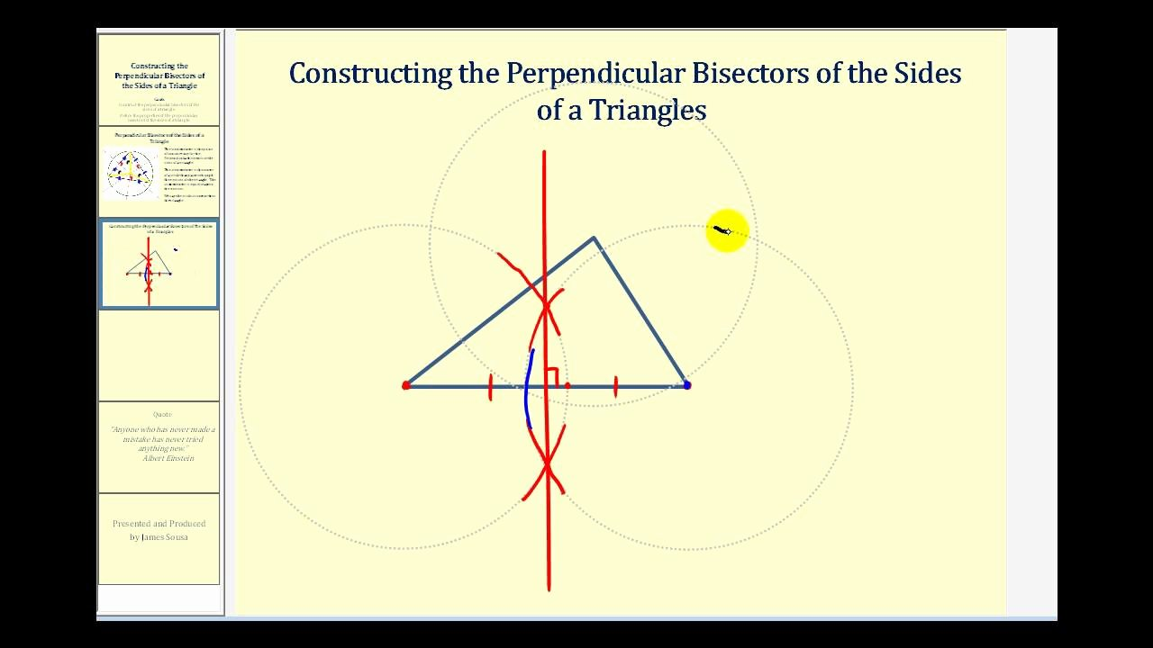 Angle Bisector theorem Worksheet Inspirational Constructing the Perpendicular Bisectors Of the Sides Of A