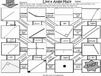 Angle Bisector theorem Worksheet Lovely Line and Angle Geometry Maze Activity by Fun S Not Just