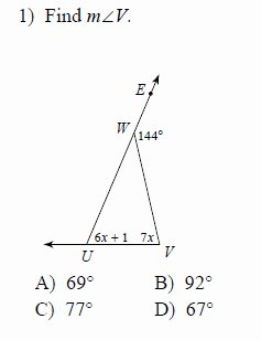Angle Bisector theorem Worksheet Luxury Exterior Angle theorem Worksheets