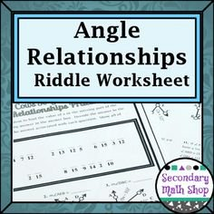 Angle Pair Relationships Practice Worksheet Awesome Angle Addition Postulate Riddle Worksheet
