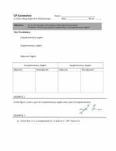 Angle Pair Relationships Practice Worksheet Inspirational 1 5 Angle Pair Relationships Practice Worksheet Day 1 Jnt