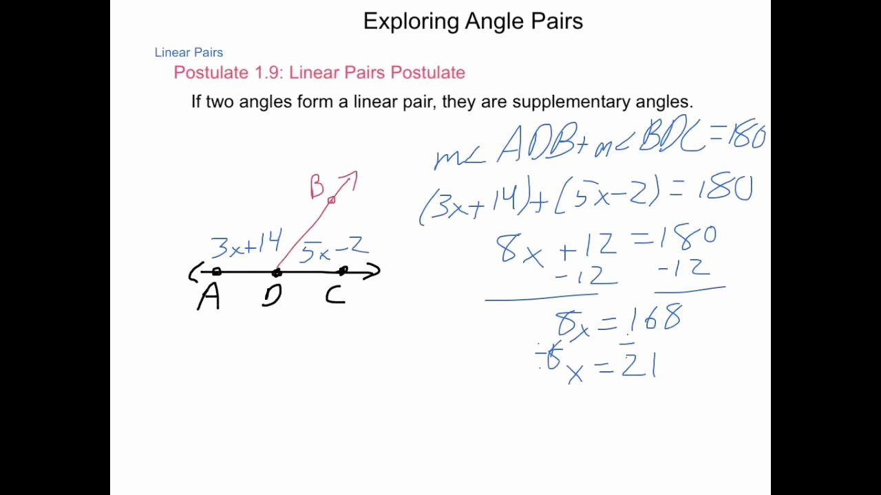Angle Pair Relationships Practice Worksheet New Geometry 1 5 Exploring Angle Pairs