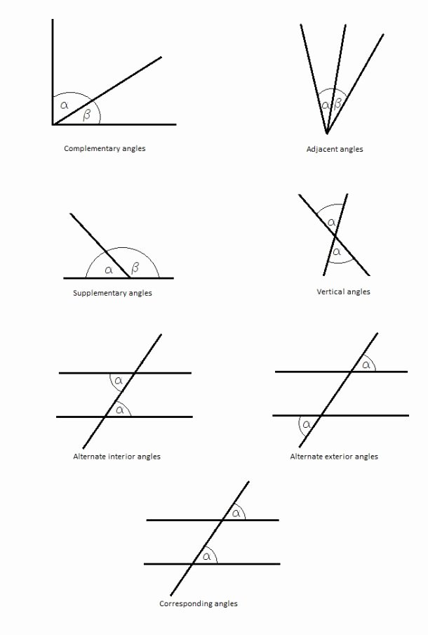 Angle Pair Relationships Practice Worksheet Unique 20 Best Images About Angles On Pinterest