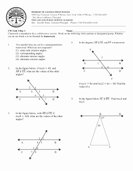 Angle Pair Relationships Worksheet Best Of 1 5 Angle Pair Relationships Practice Worksheet Day 1 Jnt