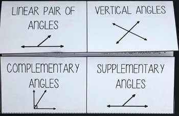 Angle Pair Relationships Worksheet Elegant Angle Pair Relationships Interactive Foldable by Mrs E