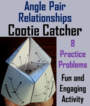 Angle Pair Relationships Worksheet Fresh Angle Relationships Activity for 7th 8th 9th 10th Grade by