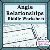 Angle Pair Relationships Worksheet Inspirational Secondary Math Shop Teaching Resources