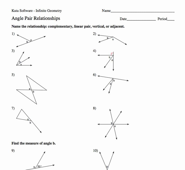 Angle Relationships Worksheet Answers Awesome 7 Best Images About Angle Pairs On Pinterest