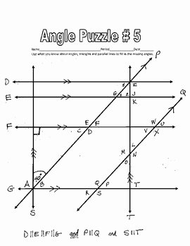 Angle Relationships Worksheet Answers Best Of Parallel Lines Cut by A Transversal Printable Missing