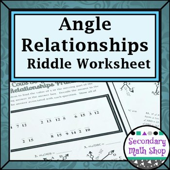 Angle Relationships Worksheet Answers Luxury Angle Relationships Linear Pair Vertical Plementary