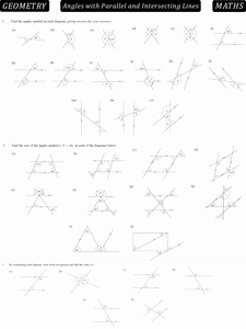 Angles and Parallel Lines Worksheet Beautiful 3 4 Angles with Parallel Lines Pdf