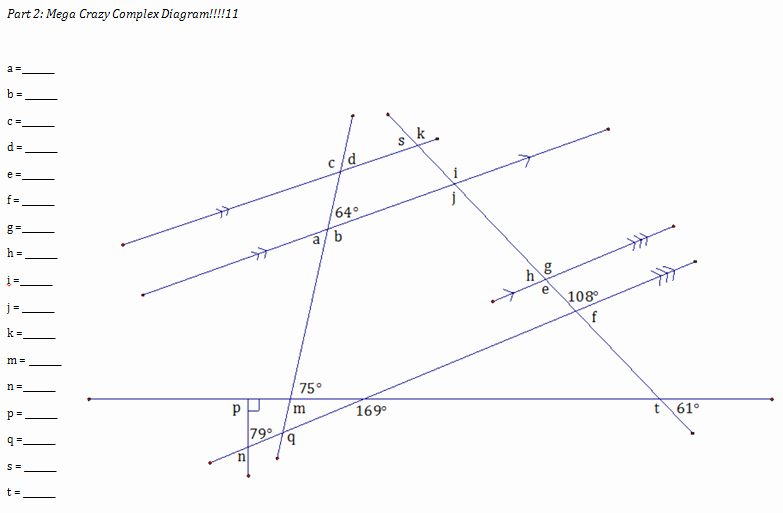 Angles and Parallel Lines Worksheet Beautiful Irregular but Not Obtuse – I M A High School Teacher who
