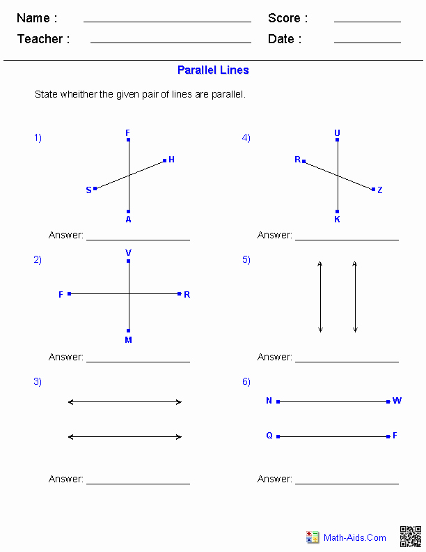 Angles and Parallel Lines Worksheet Lovely 17 Best Of Geometry Angles Worksheet 4th Grade