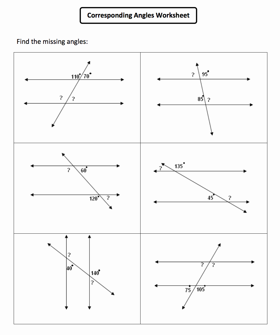 Angles and Parallel Lines Worksheet Luxury Angle Relationships and Parallel Lines Worksheet the Best