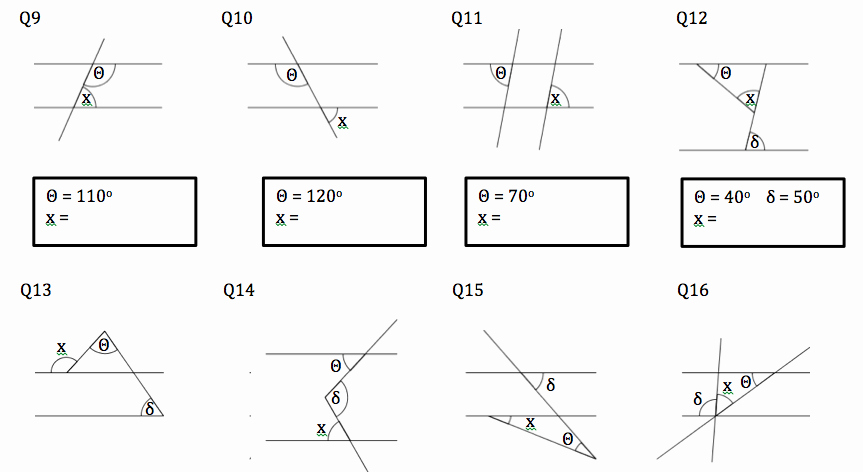 Angles and Parallel Lines Worksheet Luxury Angles