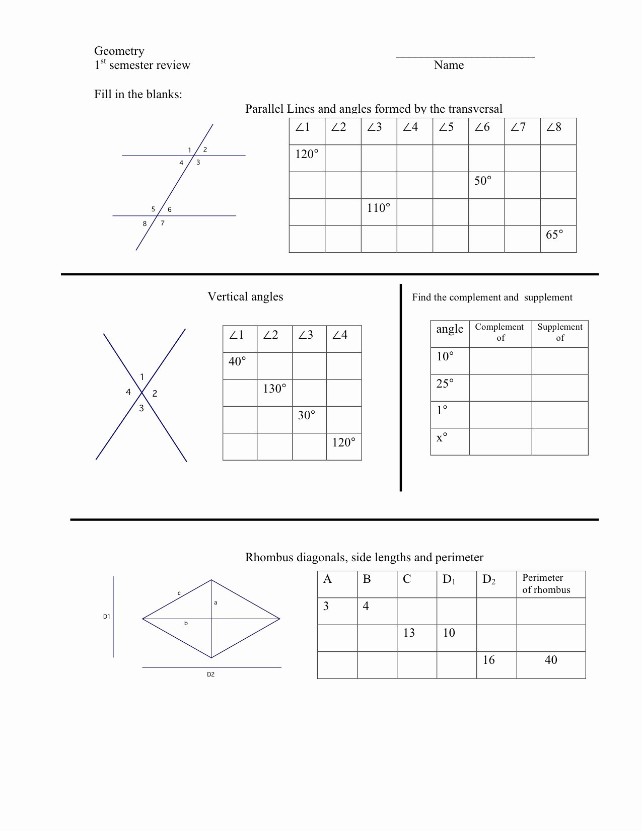 Angles and Parallel Lines Worksheet Luxury Worksheets