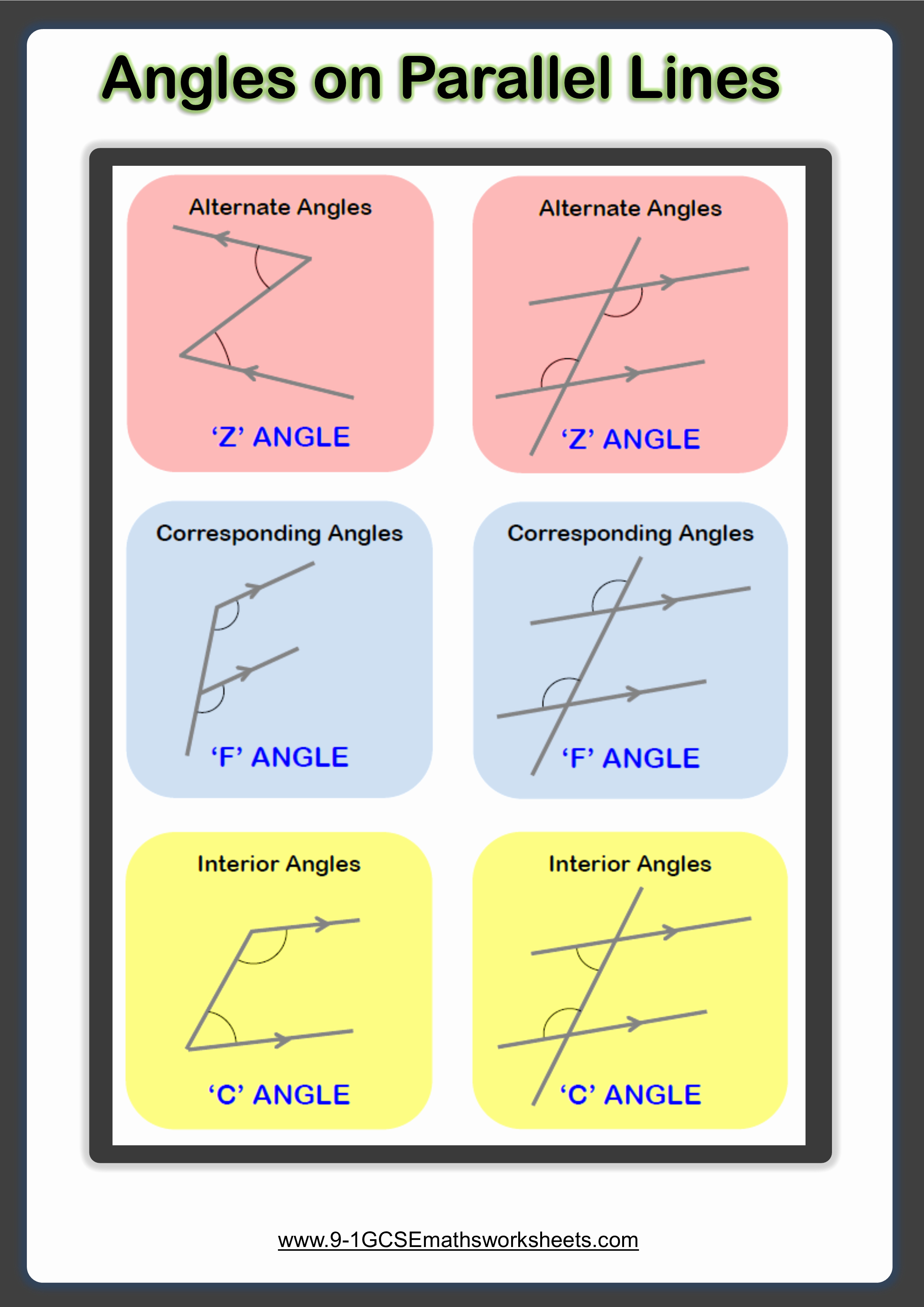 Angles and Parallel Lines Worksheet New Angles On Parallel Lines Worksheets