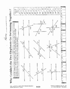 Angles and Parallel Lines Worksheet New Parallel Lines and Transversal 6th Grade Worksheet