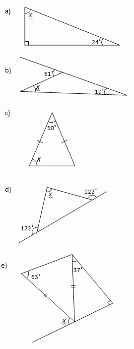Angles In A Triangle Worksheet Elegant Angles In A Triangle Worksheets and solutions
