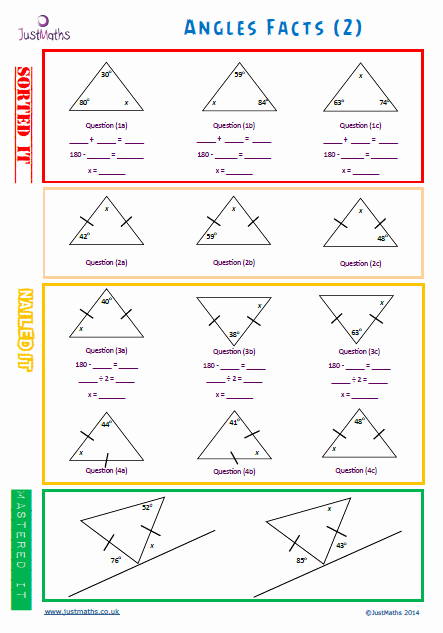 Angles In A Triangle Worksheet Luxury Angle Facts Gcse Maths Gcse Revision Lesson Planning