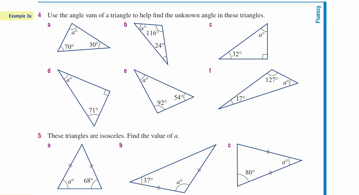Angles In A Triangle Worksheet New Year 9 – Interior Angles Practice Work