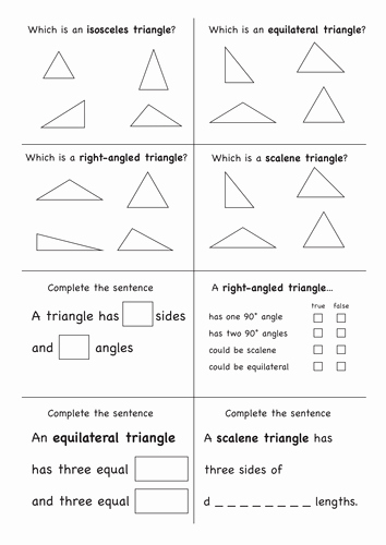 Angles In A Triangle Worksheet Unique Angles In A Triangle by Nkadams Teaching Resources Tes