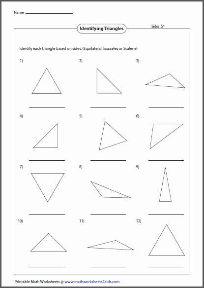 Angles In A Triangle Worksheet Unique Triangles Worksheets