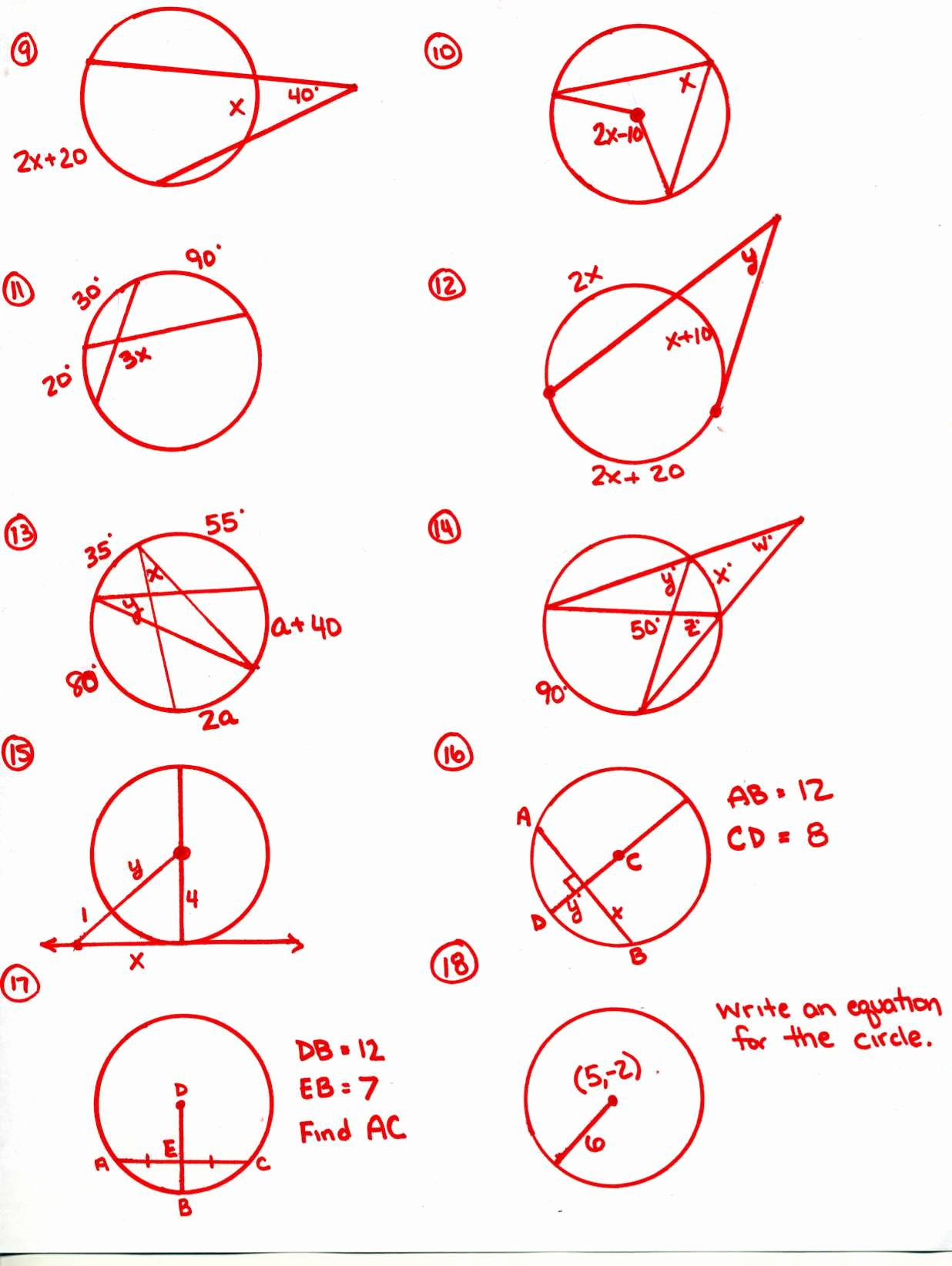 Angles In Circles Worksheet Best Of Honors Geometry 2015 2016 Mr Calise S Math Website