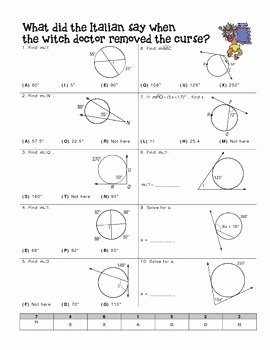 Angles In Circles Worksheet Lovely Angle Relationships In Circles Worksheet by Miss Lauren
