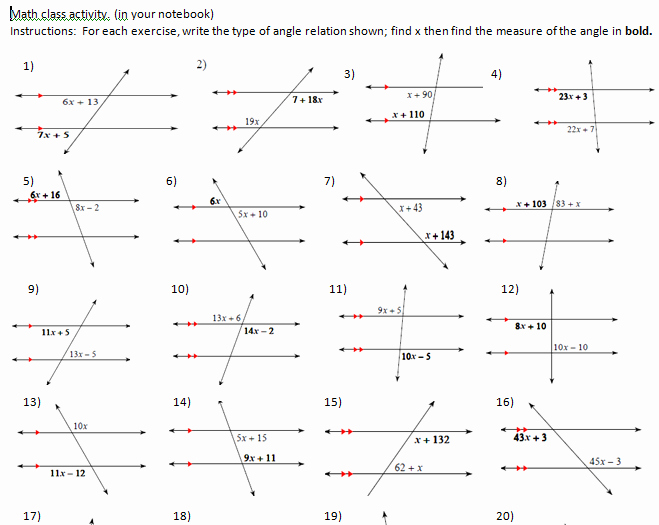 Angles In Transversal Worksheet Answers Best Of Irminger John 2014 2015 Worksheets